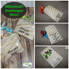 What a fun Minecraft party game for the kids! Plan a Minecraft scavenger hunt complete with Minecraft goodie bags! Perfect for boys and girls of all ages and is the perfect fun idea for your Minecraft Themed Birthday Party! Minecraft Scavenger Hunt, Minecraft Party Games, Scavenger Hunt Party, Minecraft Birthday Party, Birthday Party Games, Scavenger Hunts, Birthday Ideas, 9th Birthday, Minecraft Activities
