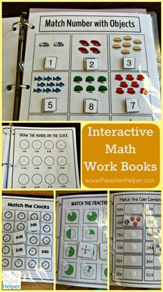 Hands-down one of our favorite resources - the Interactive Math Work Book Series contains 3 levels & a bundle (for those money saving lovers out there)! More of what each level includes at theautismhe (Favorite At Work) Life Skills Classroom, Autism Classroom, Special Education Classroom, Special Education Activities, Classroom Setup, Autism Education, Maths Resources, Aba Therapy For Autism, Special Education Inclusion