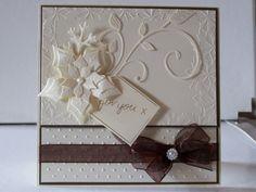 spellbinders cards   Sally Bernhard's Card Designs: Spellbinders in Cream