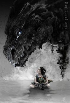 Daily Dragons — Talisman by Nightpark (DeviantArt) Fantasy Creatures, Mythical Creatures, Godzilla, Draco, Dragon Oriental, Talisman, Dragon Images, Dragon's Lair, Dragon 2