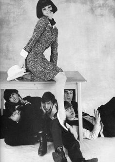 The Rolling Stones in a fashion shoot in 1965