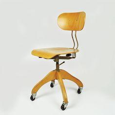 Schreibtischstuhl modern holz  Vintage Drehstuhl Stoll / Alter Schreibtisch Stuhl Holz ...