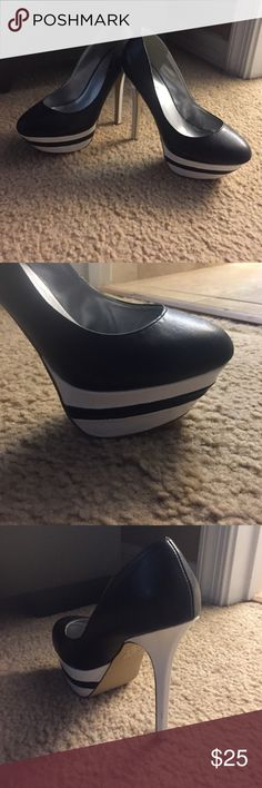 Black and white pumps Black and white high heel pumps Shoe Dazzle Shoes Heels