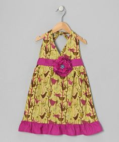 Take a look at this Olive & Berry Daisy Halter Dress - Toddler & Girls by Bubblegum Diva on #zulily today!