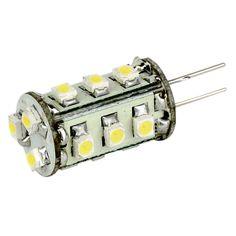 Lunasea G4 Bottom Pin LED Light Bulb - 12VAC or 10-30VDC/1.3W/89 Lumens - Warm White - https://www.boatpartsforless.com/shop/lunasea-g4-bottom-pin-led-light-bulb-12vac-or-10-30vdc1-3w89-lumens-warm-white/