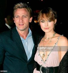 Actors Keira Knightley and Daniel Craig attend Screening of 'The Jacket' at the Rex Cinema and bar on May 9 2005 in London England Daniel Craig Young, Daniel Craig James Bond, Daniel Graig, Best Bond, Jason Isaacs, Mcqueen, Famous Couples, Sean Connery, Skyfall