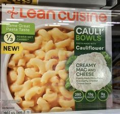 Creamy Mac And Cheese, Macaroni And Cheese, Cheddar Cheese Sauce, Elbow Pasta, Lean Cuisine, Frozen Meals, Cauliflower, Protein, Ethnic Recipes