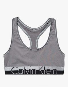 1f77267df1c80 A soft stretch jersey bralette from Calvin Klein Underwear. Features scoop  neckline