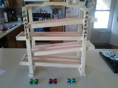 Wooden Racetrack with Cars