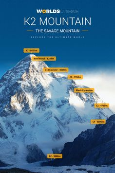 Highest in Pakistan and Mountain High Elevation in the World. Height: Peak elevation from sea level ft. Mountain Climbing, Rock Climbing, Climbing Everest, Pakistan Travel, Landscape Photography Tips, Mountain Landscape, Mountaineering, Travel Agency, Bergen