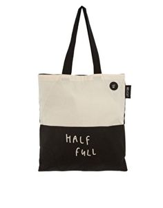 Enlarge Lazy Oaf Glass Half Empty Half Full Shopper