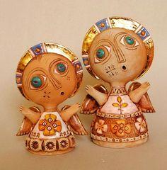 adelaparvu.com despre obiecte de arta din ceramica, ceramica pictata, ingeri din ceramica, artist Aram Hunanyan (2)