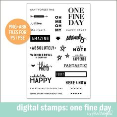 Digital Stamps: One Fine Day