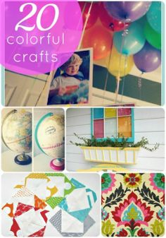 20 Projects to Bring Color to YOUR Home!