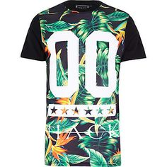 Black Hack tropical print t-shirt £25.00