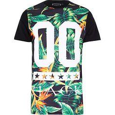 Black Hack tropical print t-shirt £25.00