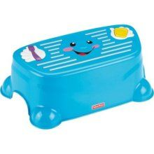 Sing with Me Step Stool - plays 30 seconds of music of hand washing and a 2 min song for teeth brushing! :)