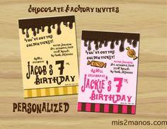 Chocolate Factory Invites