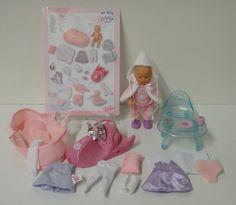Zapf Creation My Mini Baby Born - Komplett Set - inkl. tasche Schlitten etc