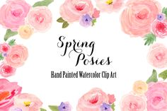 Watercolor Spring Flowers Clip Art ~ Illustrations on Creative Market