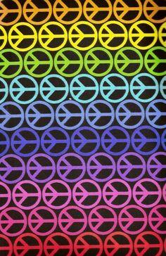 rainbow peace signs