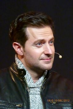 (6) Richard Armitage...again, quiet confidence under stealth...a sweater under a leather jacket, enough said!