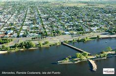 Mercedes, Rambla Costanera e Isla del Puerto.  Departamento de Soriano, Uruguay.