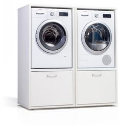 Opties - wastoren Laundry Room Pedestal, Laundry Room Cabinets, Laundry Room Bathroom, Laundry Room Design, Interior Design Living Room, Living Room Designs, Clarendon Homes, Garage Apartments, Practical Life