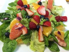 Fruit Filled Green Salad with Citrus Dressing   JAQUO Lifestyle Magazine