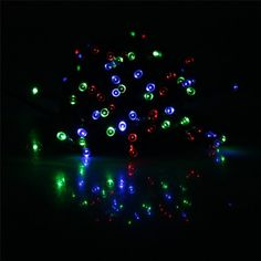 Solar-Powered 100 LED Christmas Party LED Lights Holiday String Lights for Indoor Outdoor Use (Multi-Color, 55 Feet) $17.19