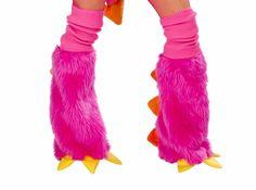 Pink Dragon Fur Leg Warmers