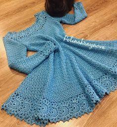 Crochet Dress for Women Free Pattern - crochet - Skirts & Dresses - Crochet Crochet Kids Hats, Crochet Gloves, Crochet Beanie, Crochet Poncho, Crochet Skirt Pattern, Crochet Skirts, Crochet Patterns Free Dress, Knitting Dress Pattern, Crochet Long Dresses