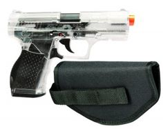 Crossman Stinger P9T Clear and Black AirSoft Pistol with Holster Review And Lowest Price   My Favorite Airsoft Gun