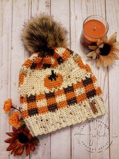 Crochet Fall Beanie Digital Download Pattern   Etsy