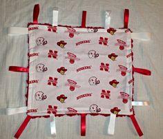 Nebraska Cornhuskers Minky tag blanket by CashAndCari on Etsy, $15.00