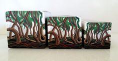 "Tree cane #49 ""Twisted Forrest"" by Wendy Jorre de St Jorre."