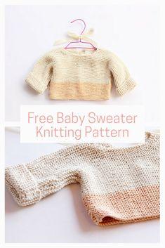 64bb2ef62d3 Baby sweater knit pattern free Baby Hats Knitting