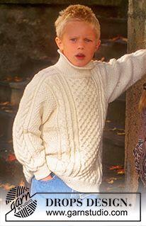 Sweater i Karima med struktur ~ DROPS Design