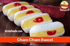 Indian Sweet Cham Cham Recipe