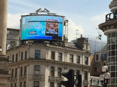 Note the dead LED (the black horizontal strip at the top). Piccadilly Circus, London on 12th June 2014