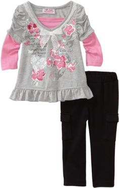 Young Hearts Baby-Girls Infant 2 Piece Printed Pant Set, Grey, 12 Months Young Hearts,http://www.amazon.com/dp/B00667NPTE/ref=cm_sw_r_pi_dp_lhtRsb1CYBZQ8C2B