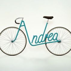 Paris based designer Juri Zaech is looking to transform your name into a beautiful bicycle with 'Write A Bike.'