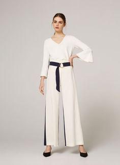 Two-tone trousers with buckle - View all - Clothing - Uterqüe United Kingdom