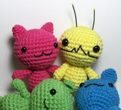 Kawaii Amigurumi Kitty, Bunny and Bear and Alien Hominid - FREE Crochet Pattern and Tutorial