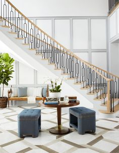 Minimalist design with a flare!An easy way to dress up a plain corner or add interest to any space.world Credits: DM for credits Interior Styling, Interior Decorating, Interior Design, Decorating Tips, Custom Home Builders, Custom Homes, Entryway Flooring, Stair Well, Staircase Design