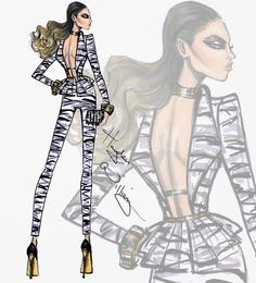 Hayden Williams Fashion Illustrations: Wildlife Safari by Hayden Williams: Look 3