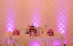 ślub dekoracja wesele parawan pikowany światło róż