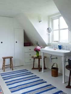 White farmhouse bath