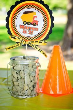 Construction, Dump Trucks Birthday Party Ideas | Photo 2 of 8 | Catch My Party