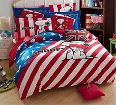 Snoopy bedding set duvet cover with white comforter inside Queen size, http://www.amazon.com/dp/989717091X/ref=cm_sw_r_pi_awdm_q58Fub15FA7PT